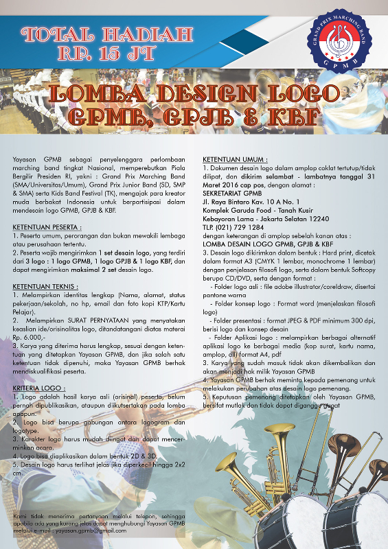 POSTER LOMBA DESIGN LOGO GPMB